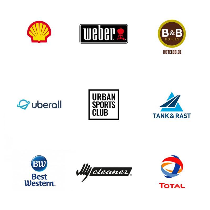 Logos der Handelspartner von We Experience.
