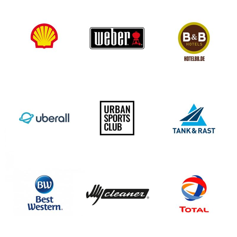 Logos der Handelspartner von We Experience.