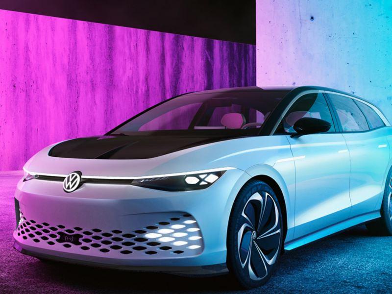 Volkswagen ID. SPACE VIZZION elbil forfra i studio
