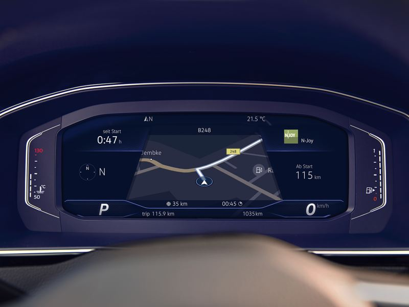 Merkezde navigasyonun yer aldığı Passat Variant Dijital Kokpiti