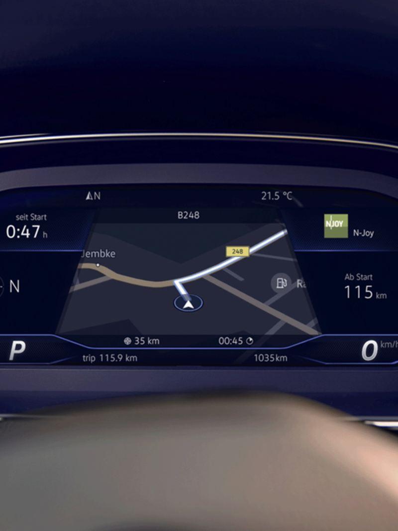 Merkezde navigasyonun yer aldığı Passat Dijital Kokpiti