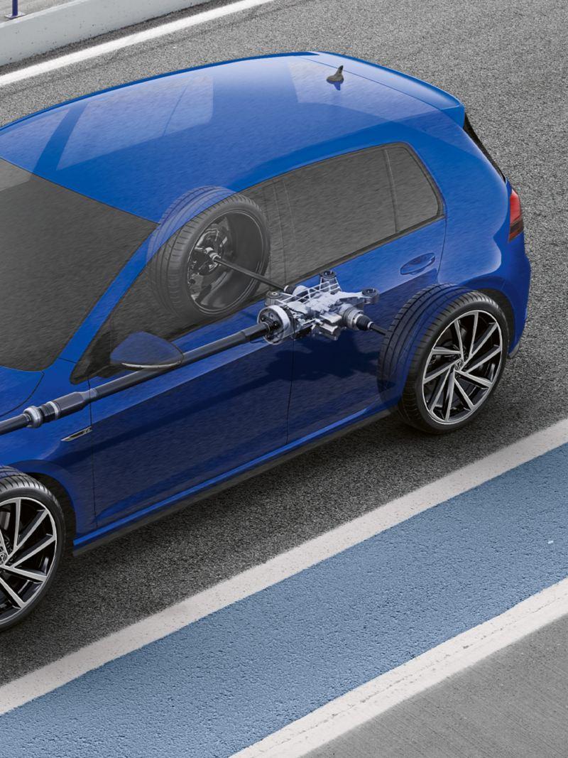 Golf R 4 tekerlekten çekiş sistemi 4MOTION®