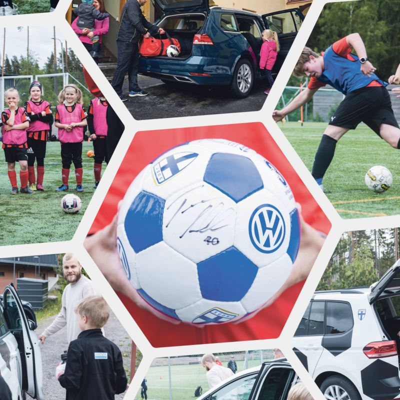 Volkswagen kuljettaa Suomen jalkapalloperhettä