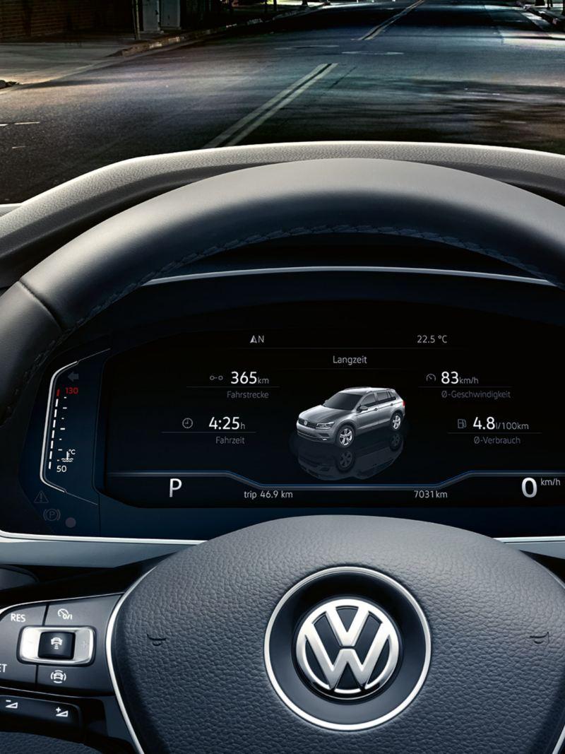 """Dijital Gösterge Paneli """"Active Info Display""""de araçla ilgili bilgiler"""