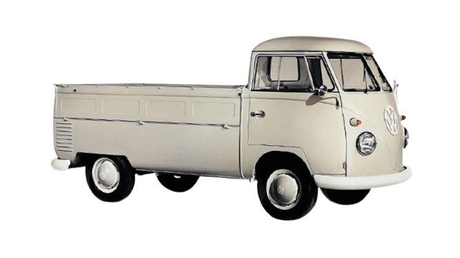 Volkswagen Transporter T1 ze skrzynią ładunkową (1952).