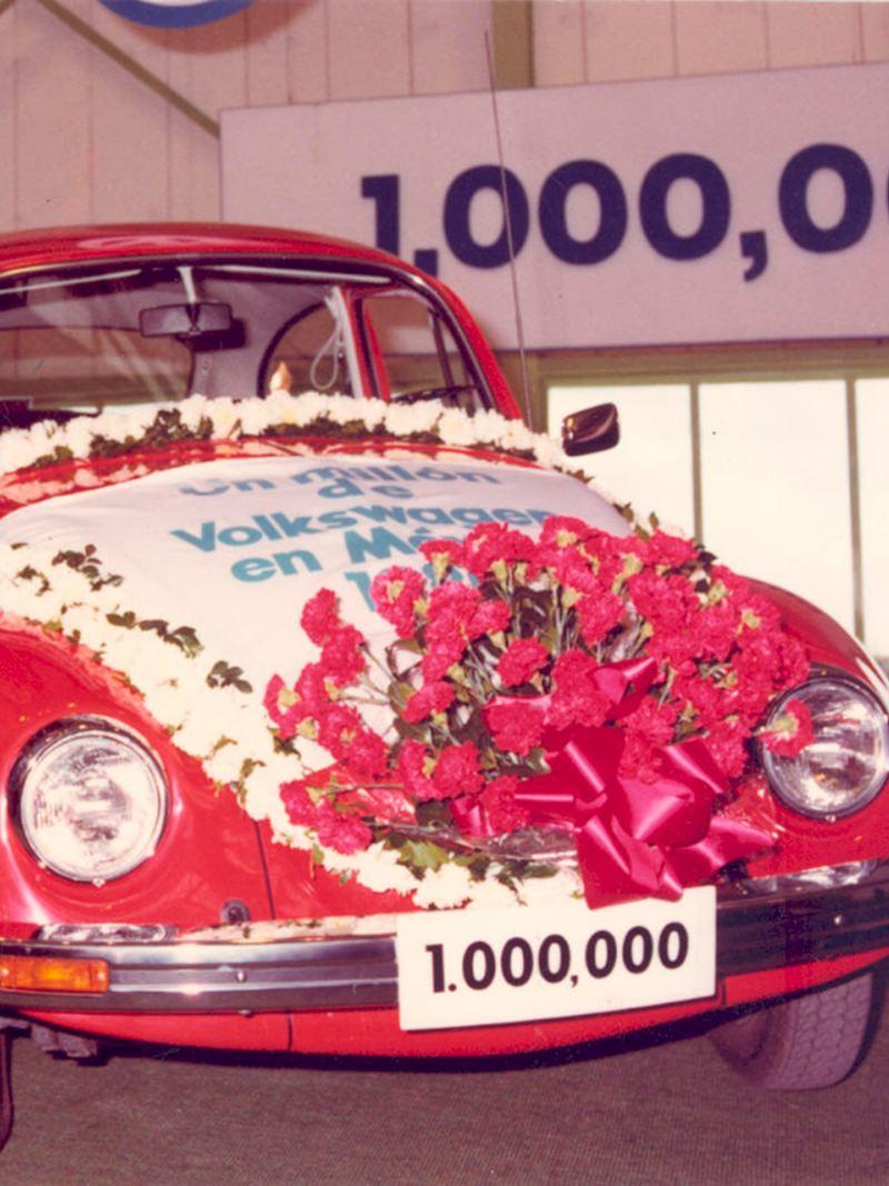 En 1980 se produce el vehículo número 1,000,000 de Volkswagen en México
