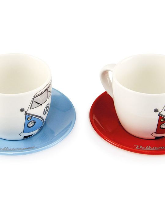 Set de tazas expresso con diseños de combi disponibles en VW Collection