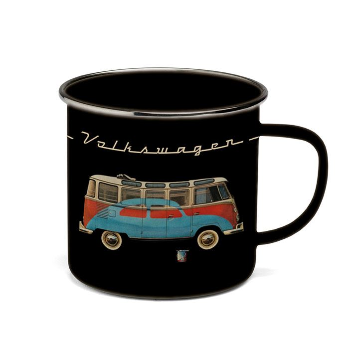 Taza peltre edición Vintage parte de VW Collection