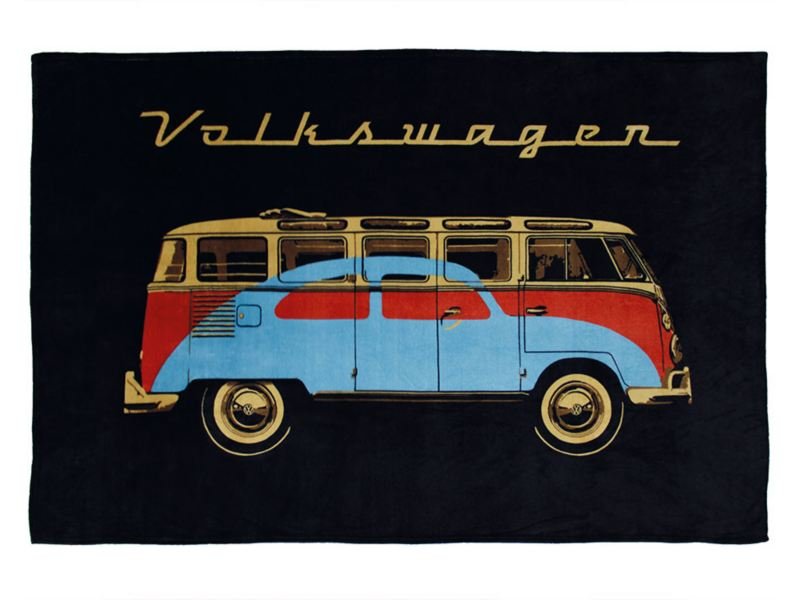 Frazada con estampado de combi parte de colección Vintage de VW Collection