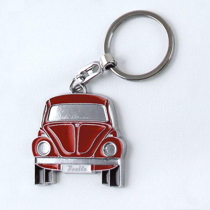 Llavero en forma de Vocho color rojo disponible en la VW Collection Vintage