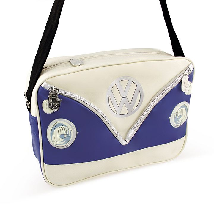Bolso horizontal con diseño de Combi en color azul de VW Collection