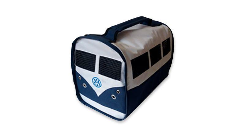 Transportadora de mascotas con diseño de Combi en diferentes colores disponible en VW Collection