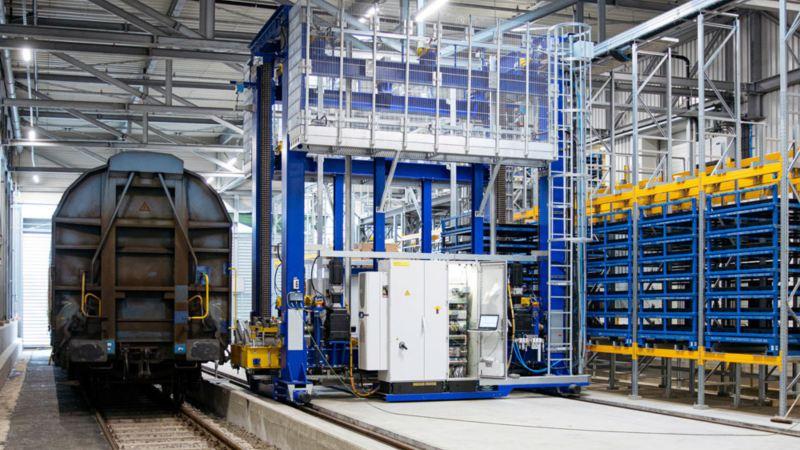 Bærekraftig transport av batterier til produksjon av elbiler hos VW Volkswagen