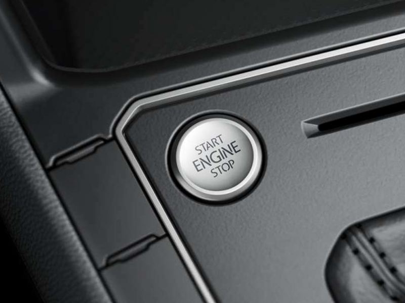 Botão de partida do motor