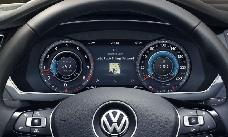 Detalle del Digital Cockpit del Volkswagen Tiguan