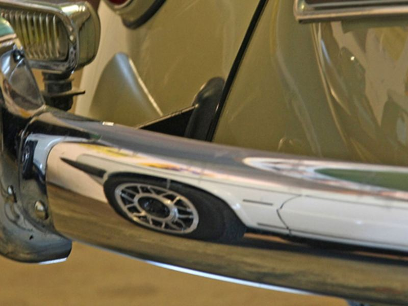 Detailed view of a classic car – spare parts for older models