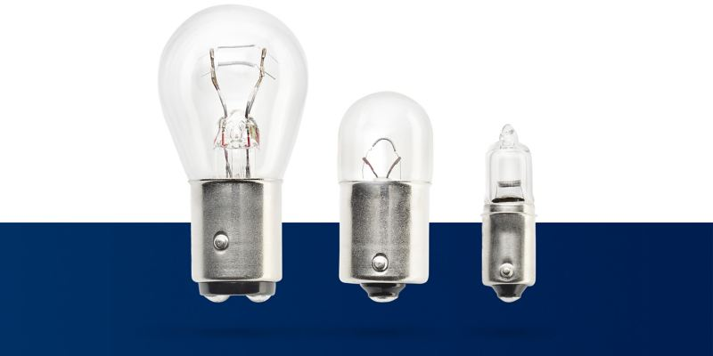 The different VW Genuine Lights in halogen bulbs type H1, H4 or H7
