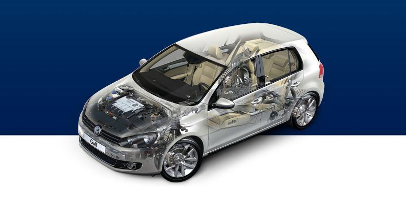 Volkswagen vue de l'intérieur