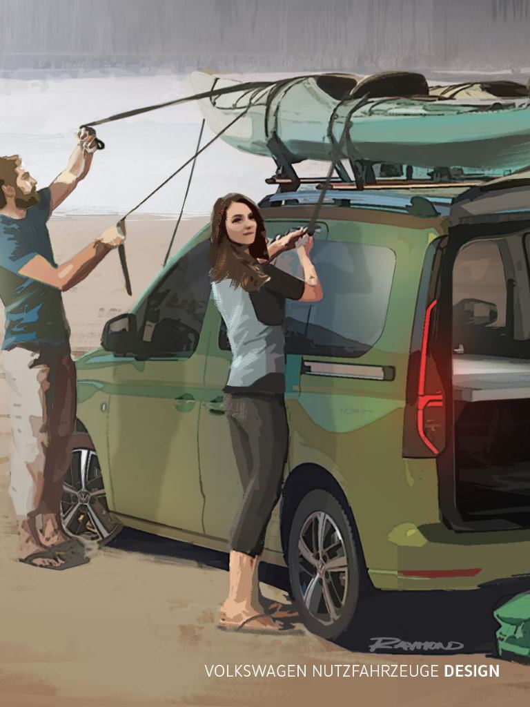 Wizualizacja nowego mini kampera Caddy