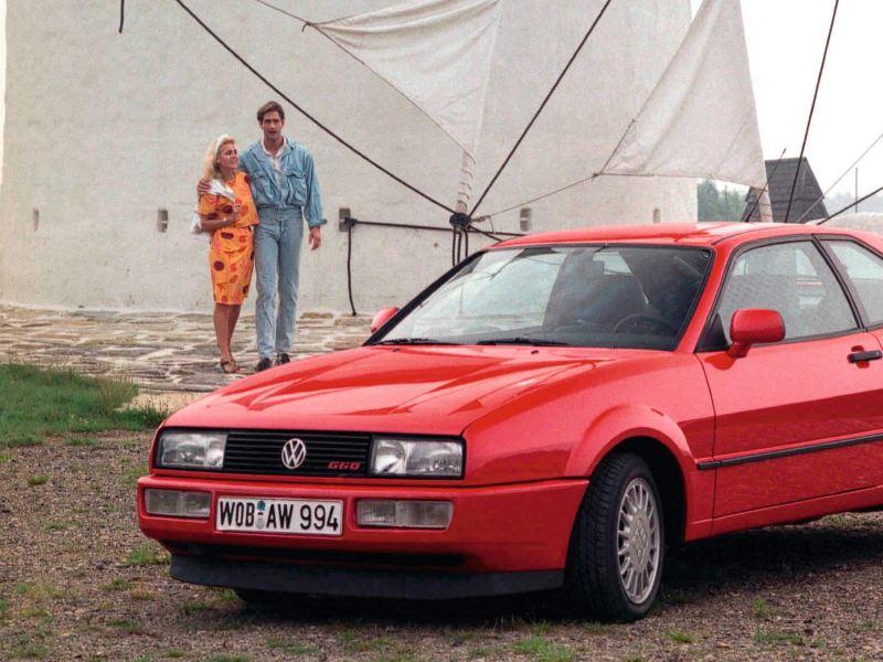 Volkswagen Corrado - El coche deportivo de 1989 en color rojo