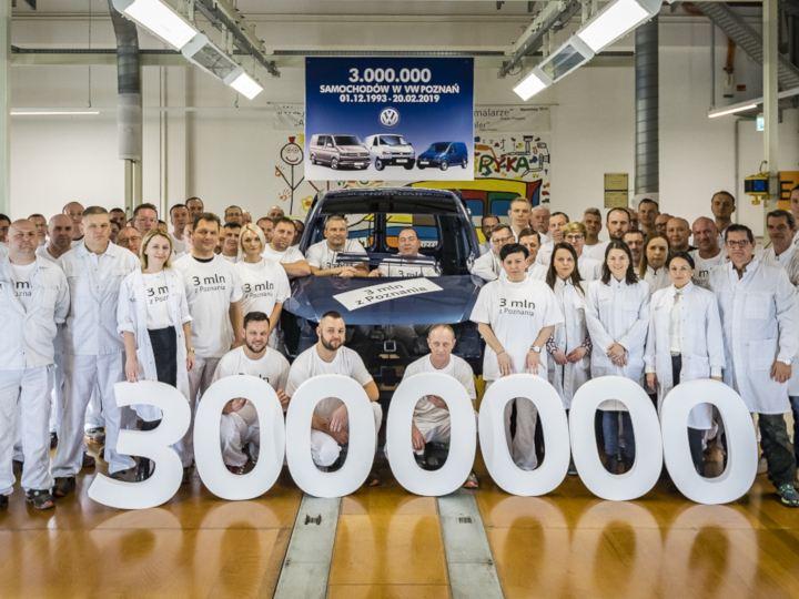 W zakładach Volkswagen Poznań wyprodukowano już 3 miliony samochodów