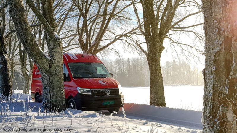 vw Volkswagen e-Crafter el varebil elektrisk varebil elbil elvarebil Posten postbil grønn miljøvennlig utslippsfri postmann Bring