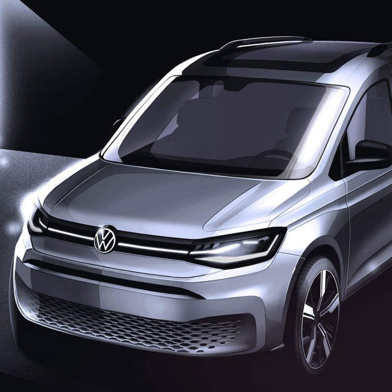 vw Volkswagen Caddy 5 Maxi varebil familiebil verdenspremiere ofte stilte spørsmål