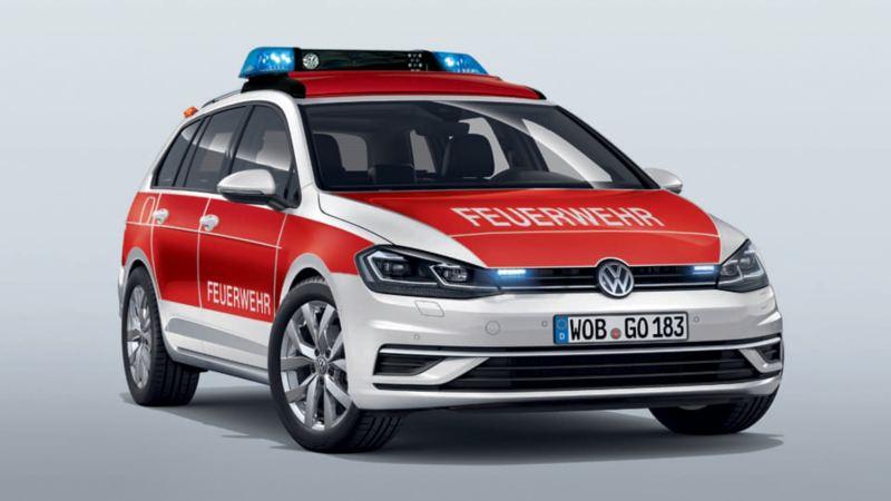 Volkswagen für Rettungsdienste – Golf Variant als Feuerwehr Kommandowagen KdoW