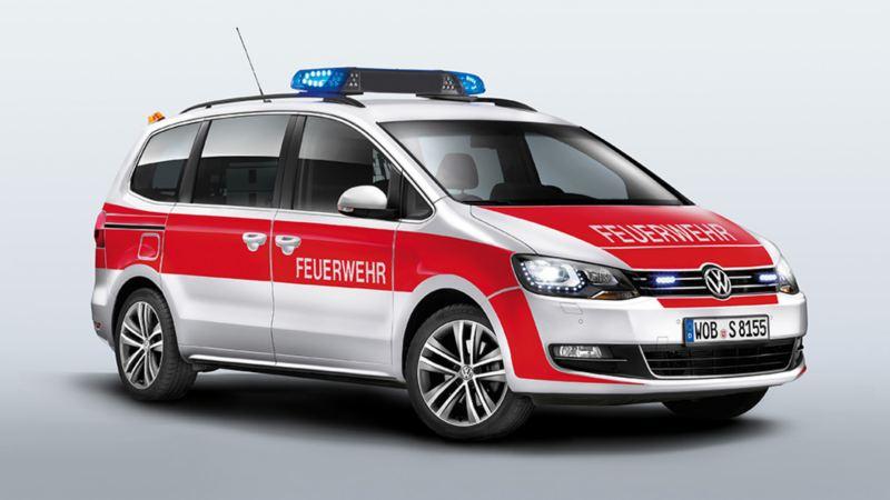 Volkswagen für Rettungsdienste – Sharan als Feuerwehr Kommandowagen KdoW