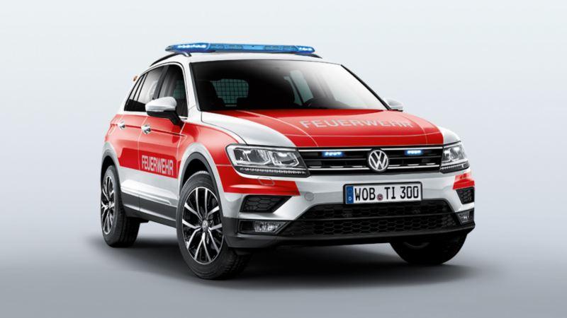 Volkswagen für Rettungsdienste – Tiguan und Tiguan Allspace als Feuerwehr Kommandowagen KdoW