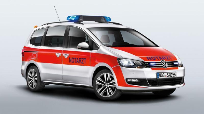 Volkswagen für Rettungsdienste – der Sharan als Notarzteinsatzfahrzeug NEF