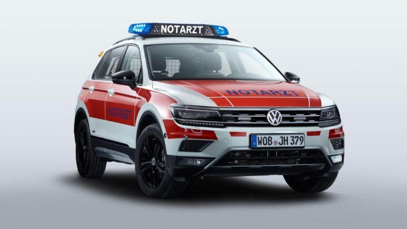 Volkswagen für Rettungsdienste – Tiguan und Tiguan Allspace als Notarzteinsatzfahrzeug NEF