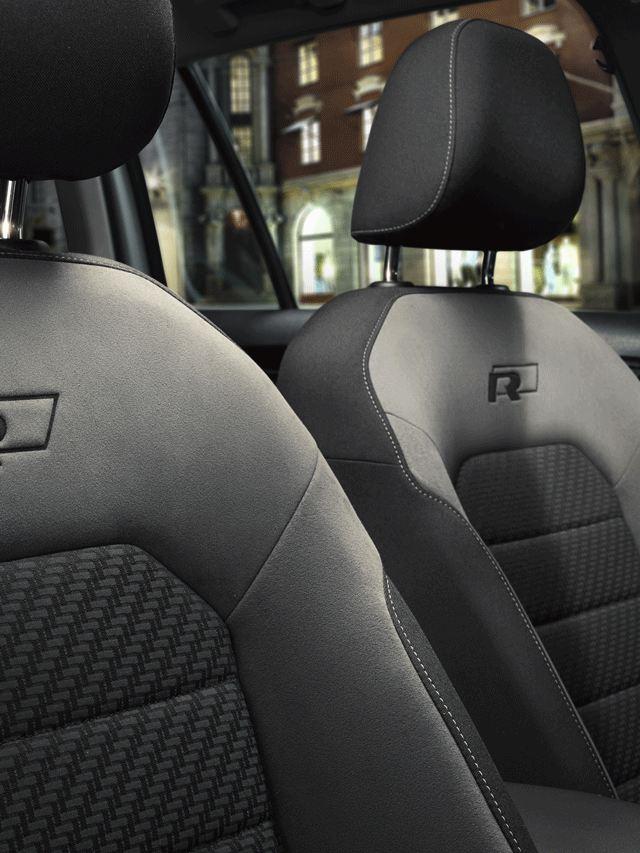 Diseño de asientos R del Volkswagen Golf