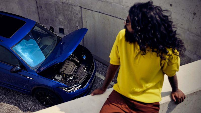 Volkswagen originalmotor i tvärsnitt