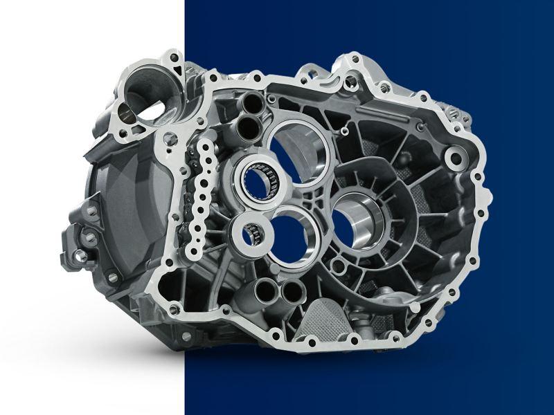 Détail du moteur d'une Volkswagen et de la courroie de distribution