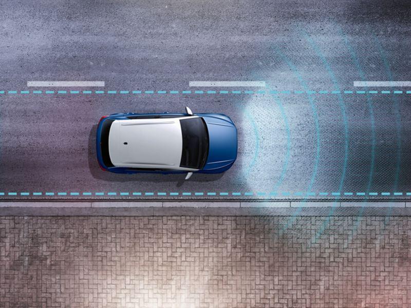 車線逸脱しないようドライバーをサポート。