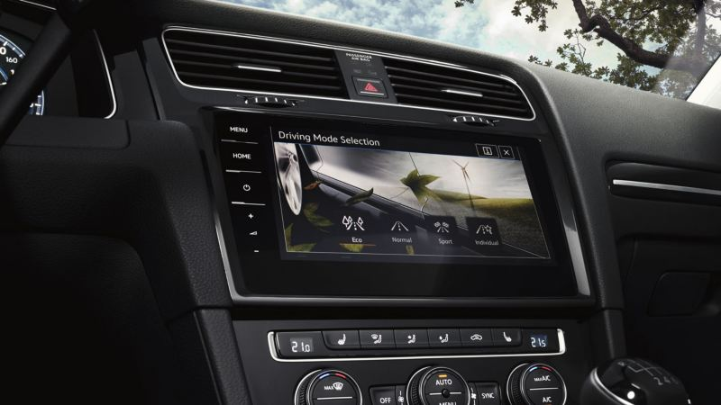 Pantalla interactiva del Volkswagen Golf