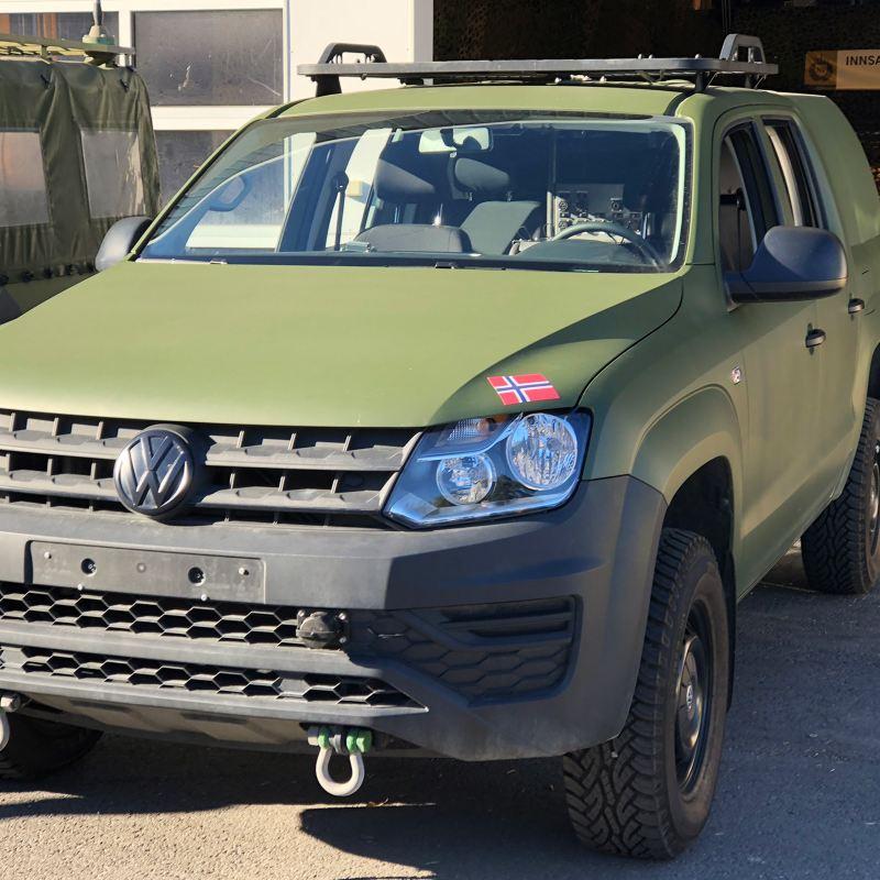 Volkswagen Nyttekjøretøy VW vant stort anbud til Forsvaret med Amarok pickup
