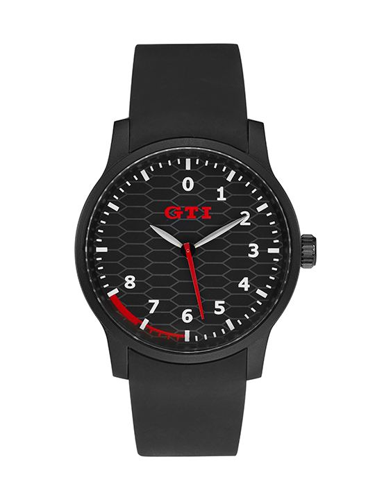 Reloj de plástico con diseño GTI disponible de VW Collection