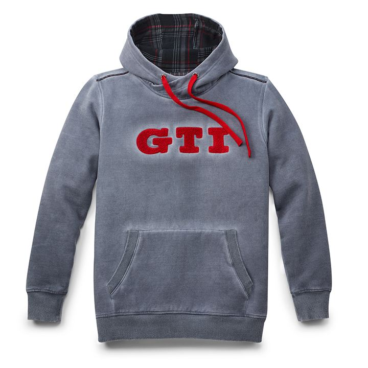 Sudadera con capucha color gris con bordado de GTI parte de VW Collection
