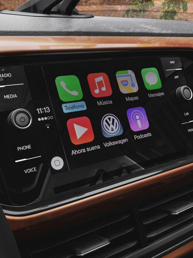 App Connect en pantalla de Nuevo T-Cross, el SUV más inteligente de VW México