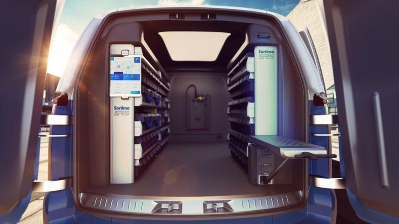vw Volkswagen id buzz cargo elektrisk varebil elbil elvarebil el varebil bakside bakdører innredning bilinnredning varebilinnredning sortimo