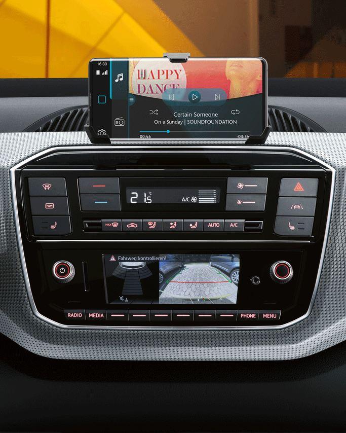 Radio de e-up! con soporte de teléfono smarthpone