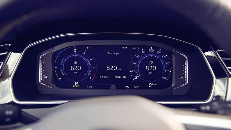 Vista del Digital Cockpit del Volkswagen Passat GTE