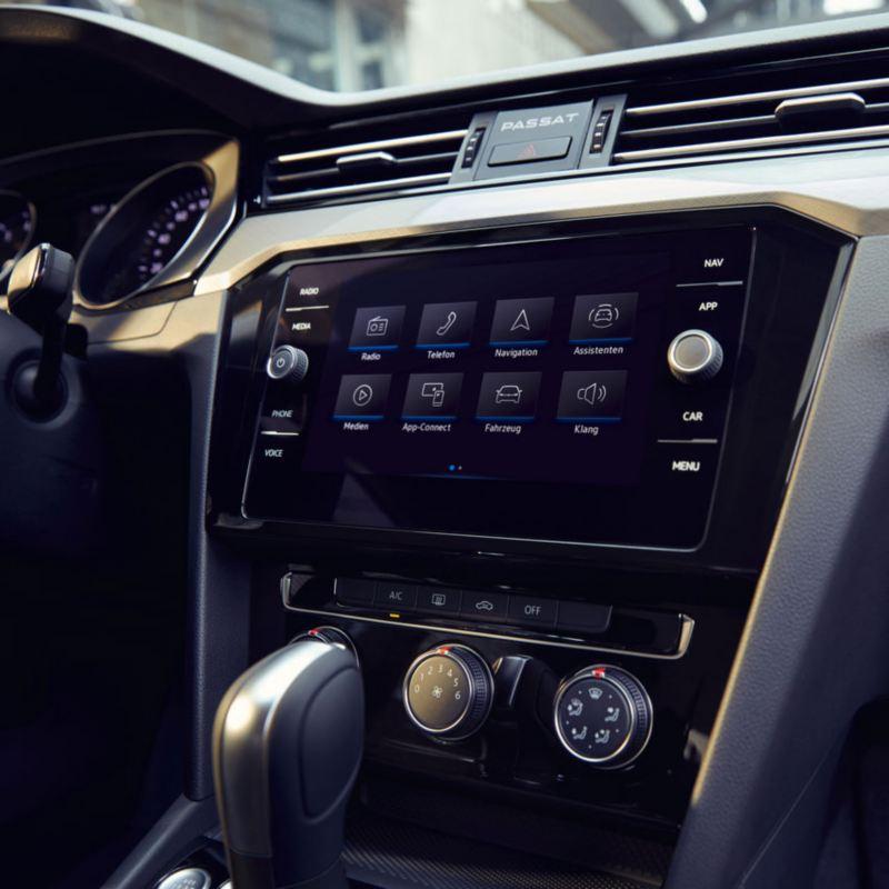Detalle de la pantalla  del Volkswagen Passat Variant