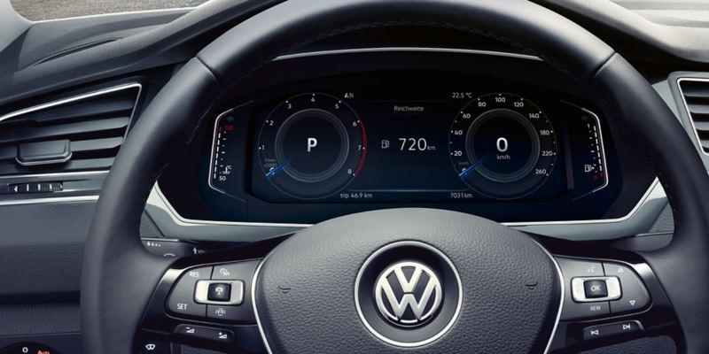 Detalle del Digital Cockpit del Volkswagen Tiguan Allspace