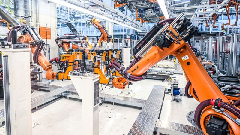 vw Volkswagen nyttekjøretøy pressemelding fabrikk produksjon nye Multivan ID. Buzz