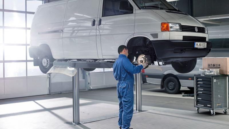 vw Volkswagen bremseskift Transporter Caddy Amarok merkeverksted bremseskriver