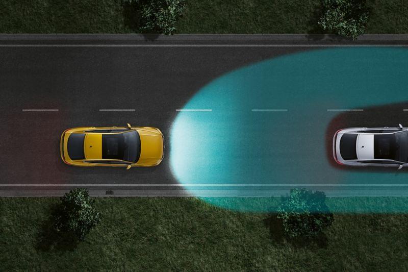 """""""Arteon"""" dinaminio tolimųjų šviesų reguliavimo sistema """"Dynamic Light Assist"""""""
