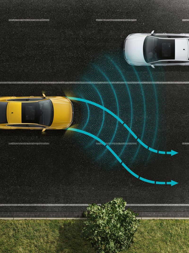 Arteon avārijas asistents Emergency Assist